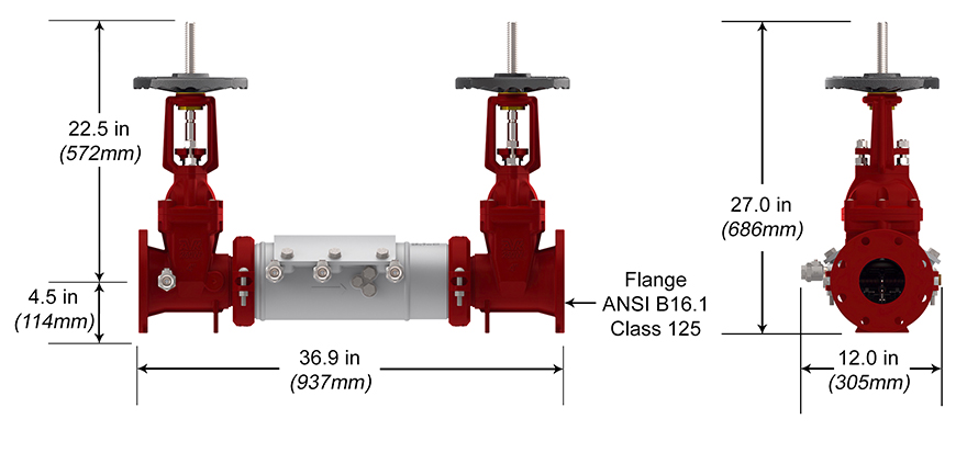 Deringer Double Check Backflow Preventer DC Measures and Materials