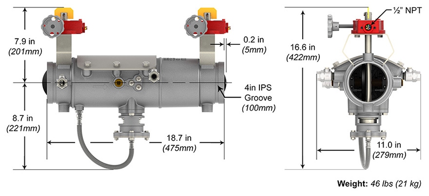Deringer RP Backflow Preventer Measures and Materials