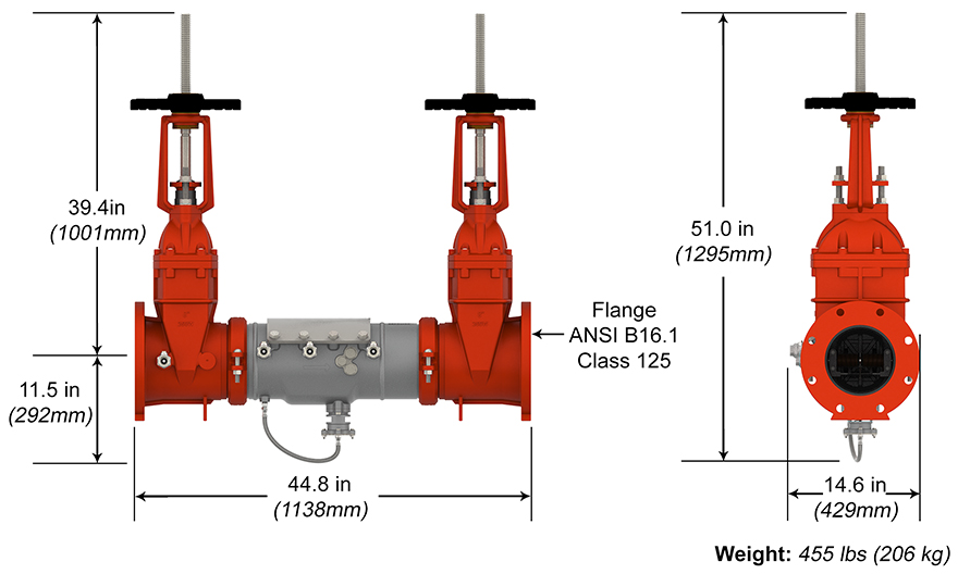 Deringer Reduced Pressure Backflow Preventer RP Measure and Materials