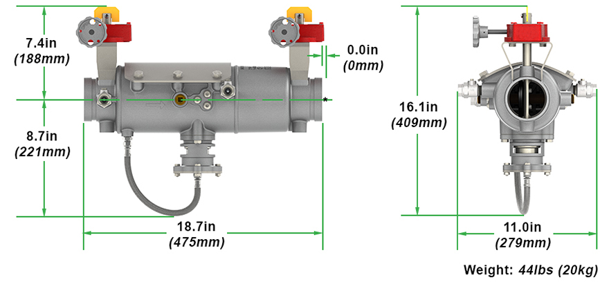 Magnum Reduced Pressure Backflow Preventer RP Measures and Materials